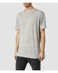 AllSaints - Gray Faxley Crew T-shirt Usa Usa for Men - Lyst