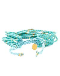Chan Luu | Blue Turquoise Mix Multi Strand Breaded Cluster Bracelet | Lyst