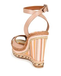 Valentino - Multicolor 1975 Leather Wedge Espadrille Sandals - Lyst