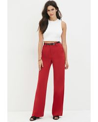 Forever 21 | Red Wide-leg Trousers | Lyst