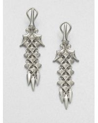 Stephen Webster | Metallic Sterling Silver Drop Earrings | Lyst