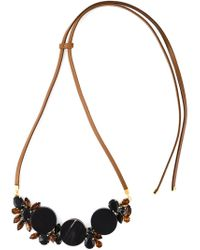 Marni - Black Crystal Necklace - Lyst