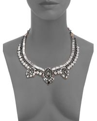 Valentino - Metallic Flowers Crystal Necklace - Lyst