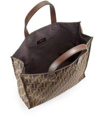 Fendi - Brown Signature Monogram Shopping Bag - Lyst