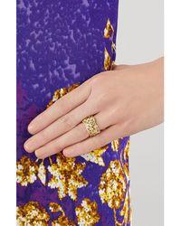 Aurelie Bidermann | Metallic Aurélie Bidermann Fine Jewelry Gold Lace Diamond Ring - Gold | Lyst
