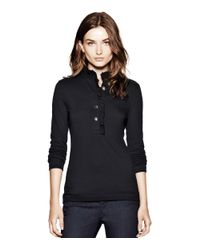 Tory Burch | Black Long-sleeve Lidia Polo | Lyst