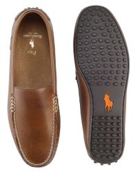 Polo Ralph Lauren | Brown Woodley Leather Loafers for Men | Lyst