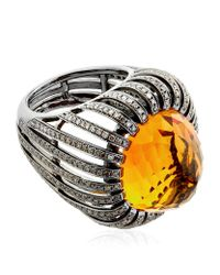 Annoushka | Orange Citrine Basket Ring | Lyst