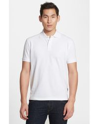 Vilebrequin | White Logo Pique Polo for Men | Lyst