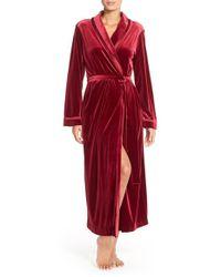 Oscar de la Renta - Pink Velvet Robe - Lyst
