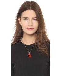 Oscar de la Renta - Red Enamel Coral Necklace - Lyst