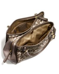 Lyst - COACH Madison Cafe Carryall in Ocelot Jacquard in Natural