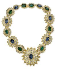 Kenneth Jay Lane - Multicolor Sapphire & Emerald Stones Centers Necklace - Lyst