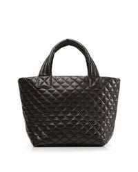 MZ Wallace - Black Leather Metro Tote - Lyst