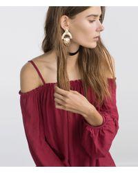 Zara | Metallic Geometric Earrings | Lyst