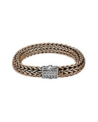 John Hardy | Metallic 'classic Chain' Wide Bracelet for Men | Lyst