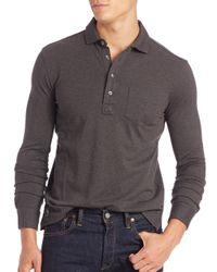 Polo Ralph Lauren - Gray Cotton Polo Shirt for Men - Lyst