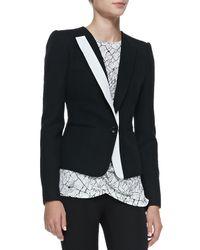 BCBGMAXAZRIA - Black Marcelle Contrast-Trim Tuxedo Jacket - Lyst