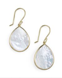 Ippolita | White Small Teardrop Earrings | Lyst