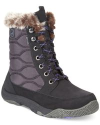 Sperry Top-Sider - Black Women'S Winter Cove Faux-Fur Booties - Lyst