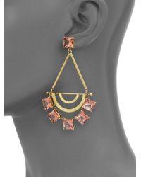 Tory Burch | Metallic Open Jeweled Statement Earrings | Lyst