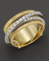 Marco Bicego | 18k Yellow Gold Goa Five Row Ring With Diamonds | Lyst
