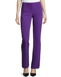 ESCADA - Purple Boot-cut Zip-pocket Pants - Lyst