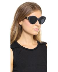 The Row - Pointed Acetate Sunglasses - Navy/Blue - Lyst