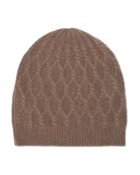 Madeleine Thompson - Brown Alice Cable-knit Cashmere Beanie - Lyst