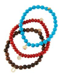 Sydney Evan - Multicolor Beaded Bracelet Sets With Charms - Lyst
