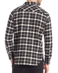Polo Ralph Lauren - Black Plaid Western Sportshirt for Men - Lyst