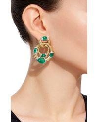 David Webb | Green Emerald Earrings | Lyst