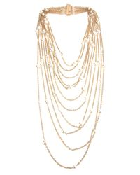 Rosantica | Metallic Chain Pearl Necklace | Lyst