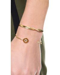 Tai | Metallic Letter Open Cuff Bracelet | Lyst