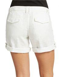 Sanctuary | White Linen Tie Waist Shorts | Lyst