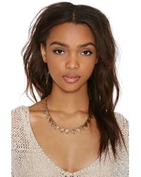 Nasty Gal | Metallic Pizza Party Choker | Lyst
