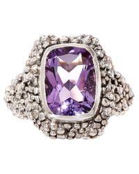 Stephen Dweck | Purple Silver Beaded Amethyst Ring | Lyst