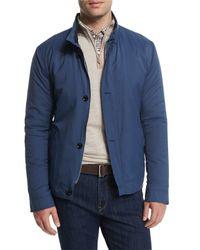 Peter Millar - Blue Mayfair Nylon Bomber Jacket for Men - Lyst