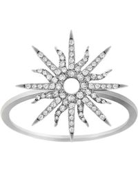 Christina Debs | Sunshine 18ct White-gold And Diamond Ring | Lyst