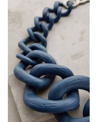 Anthropologie | Blue Crescendo Link Necklace | Lyst