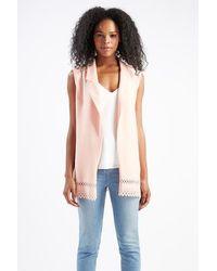 TOPSHOP | Pink Laser-cut Waistcoat By Love | Lyst