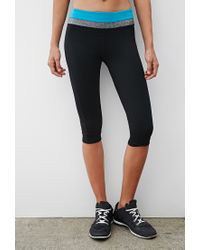 Forever 21 - Black Active Yoga Capri Leggings - Lyst