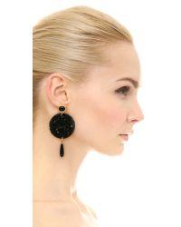 Kenneth Jay Lane | Circle Earrings - Black | Lyst