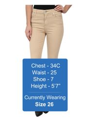7 For All Mankind - Natural The High Waist Ankle Skinny W/ Contour Waistband In Buff - Lyst