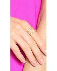 Fallon - Metallic Pave Split Ring Gold - Lyst
