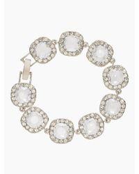 kate spade new york | Metallic Basket Pave Bracelet | Lyst