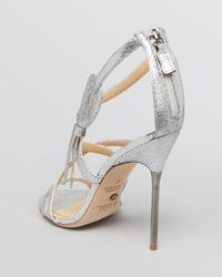 Jerome C. Rousseau | Metallic Open Toe Evening Sandals Taboo High Heel | Lyst