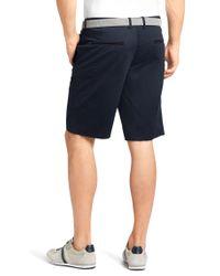 """BOSS Green - Blue \""""regular Fit Shorts 'liem1-w' In Cotton Blend\"""" for Men - Lyst"""