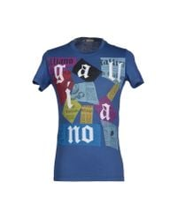 John Galliano - Blue T-shirt for Men - Lyst