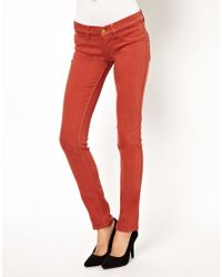 M.i.h Jeans | Red Vienna Skinny Jean in Clay | Lyst